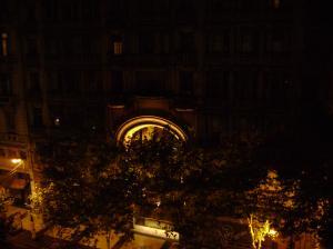 Blick aus meinem Hotel bei Nacht