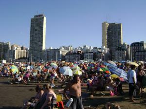 Menschenmassen am Strand