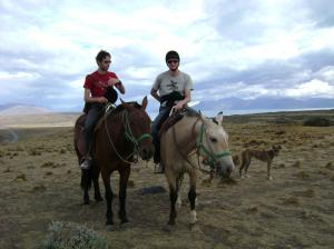 Felix und Paul auf'm Pferd