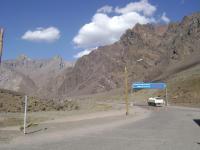 Grenzübergang in den Bergen
