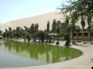 Lagune und Sand