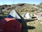 Zelten im Base-Camp