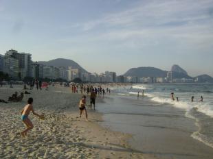 Strand in Copacabana