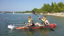 Mit dem Kayak zur Insel