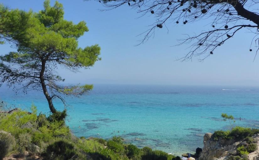 Sandige Schönheit in türkisblau