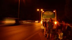 Buspanne auf der Autobahn
