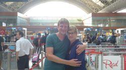 Abschied von Stephanie am Flughafen