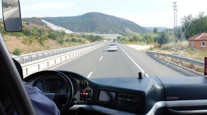 Mit dem Bus nach Pamukkale