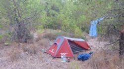 Nachtlager im Wald