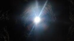 Tageslicht ganz oben im Lüftungsschacht
