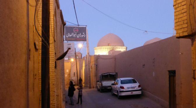 Altstadt von Yazd am Abend
