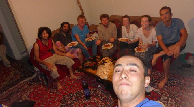 Ei-Burger in Ehsans WG beim Couchsurfing