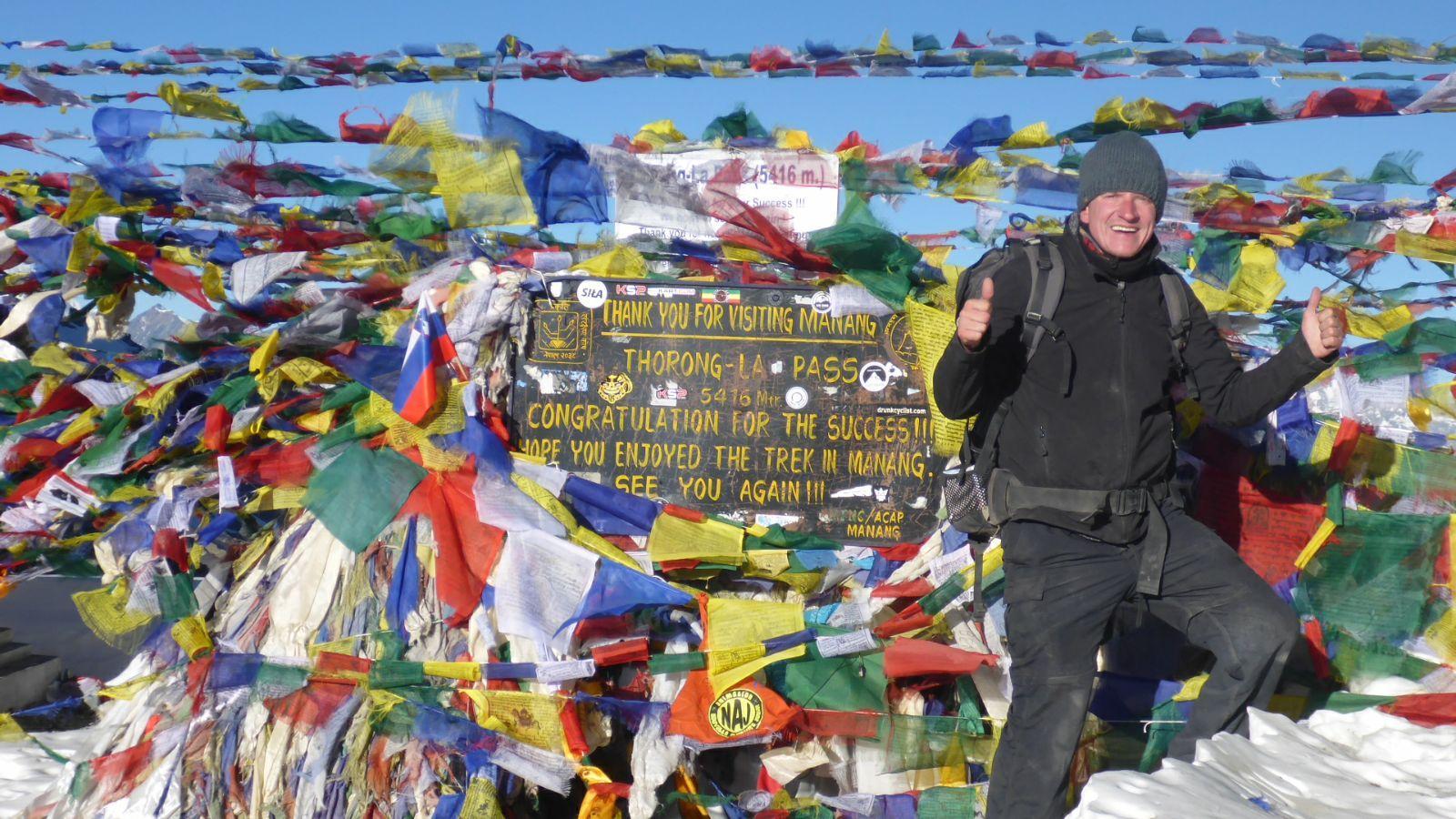 Geschafft: Thorung La Pass auf 5414 Metern