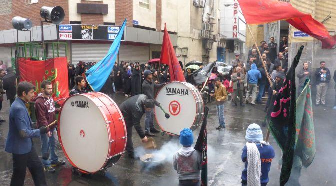 Imam Hossein Gedenkfeier in den Straßen Teheran