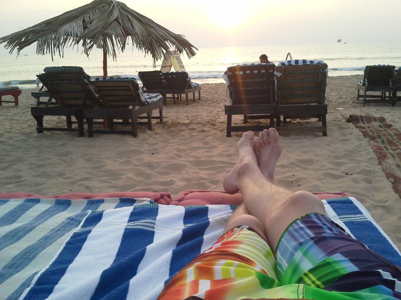 Chillout am Strand von Goa
