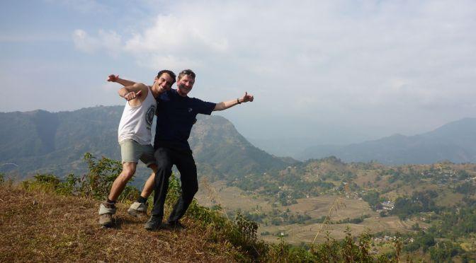 Gil und ich hoch über den Dörfern