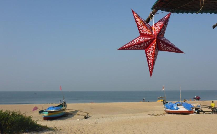Weihnachtsstimmung am Strand von Goa