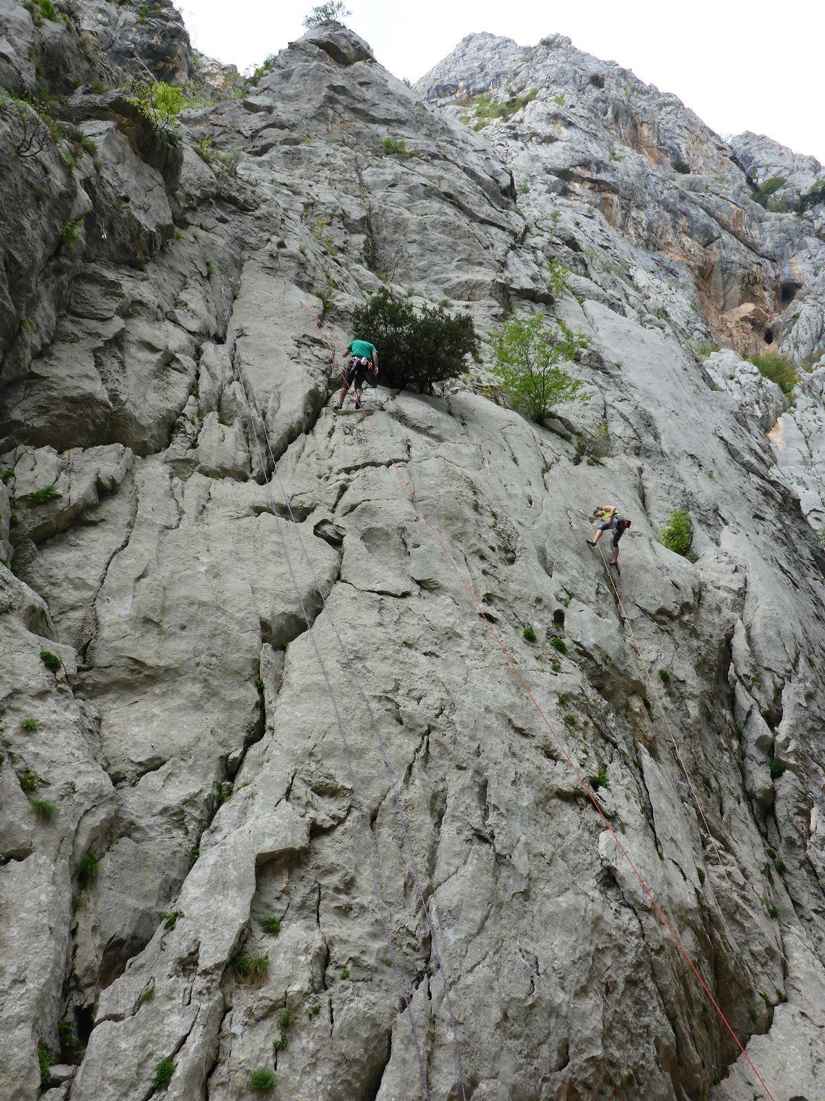 Bergsteiger im Paklenica Nationalpark