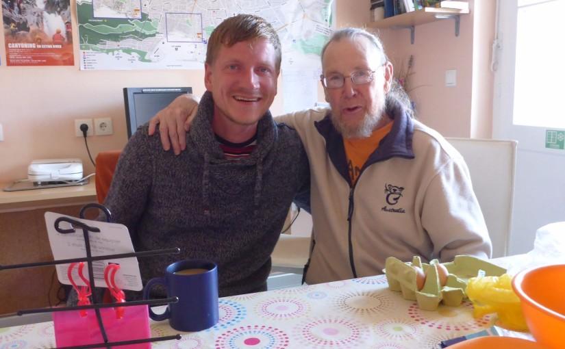 Im Hostel mit dem 80jährigen Traveller Paul