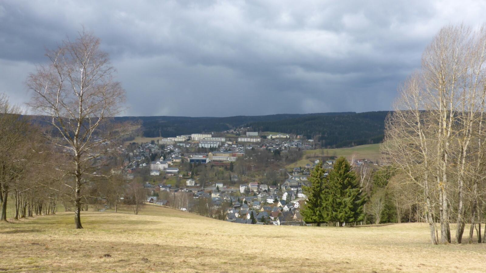 Blick vom Friedensberg auf Klingenthal