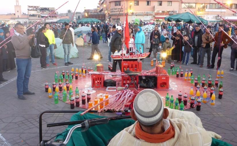 Marrakesch – Schauspiel nach dem Sonnenuntergang