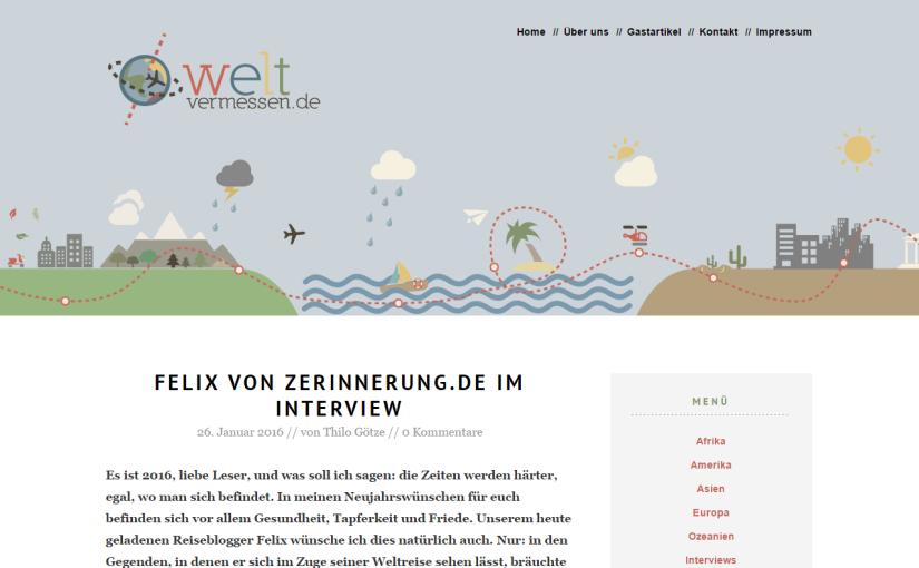 Interview auf weltvermessen.de