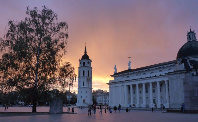 Abendstimmung in Vilnius