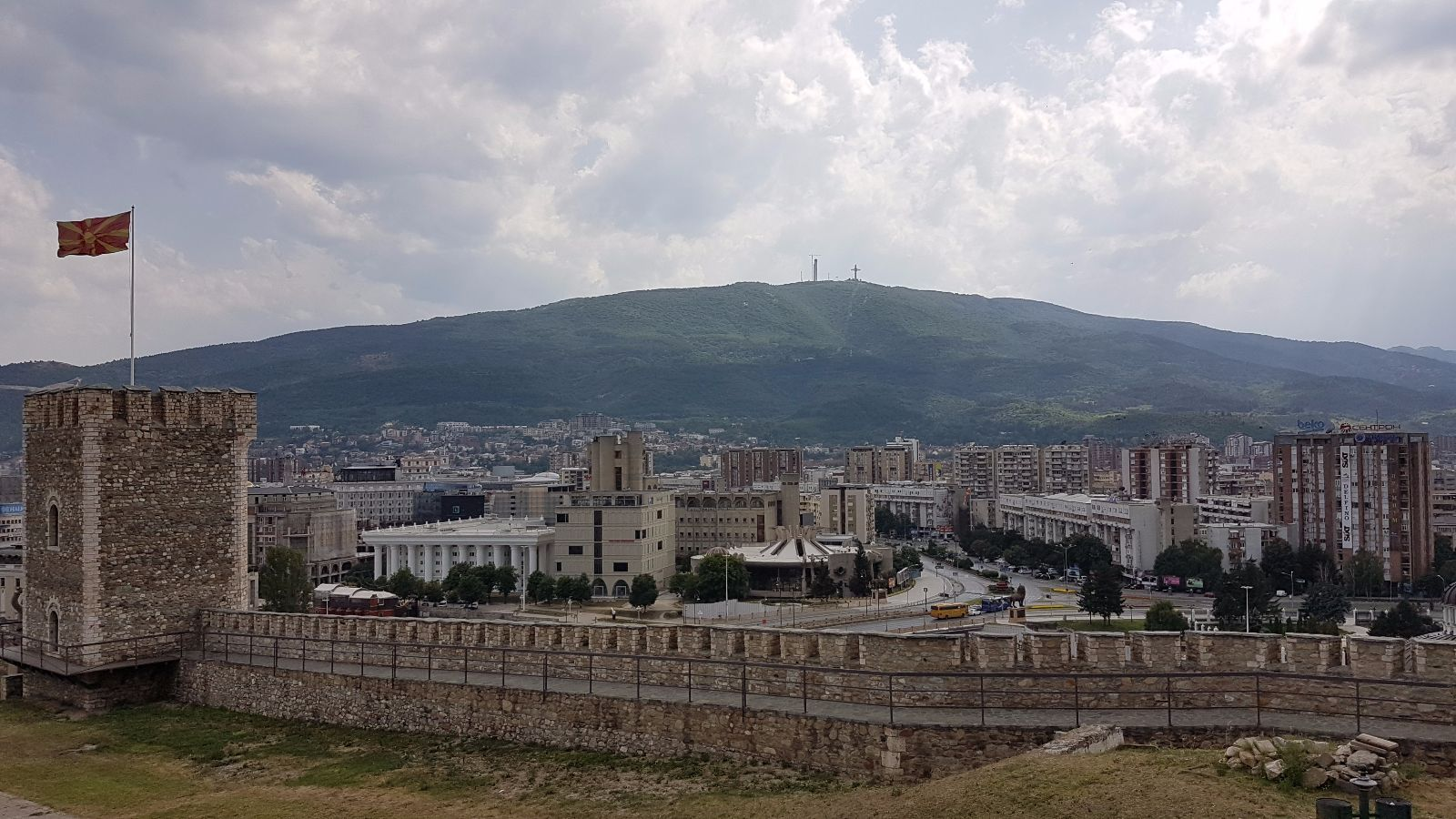 Blick vom Fort in Skopje
