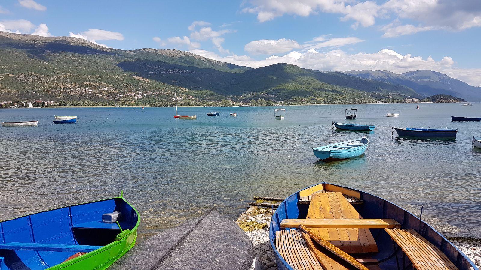 Boote auf dem Ohridsee