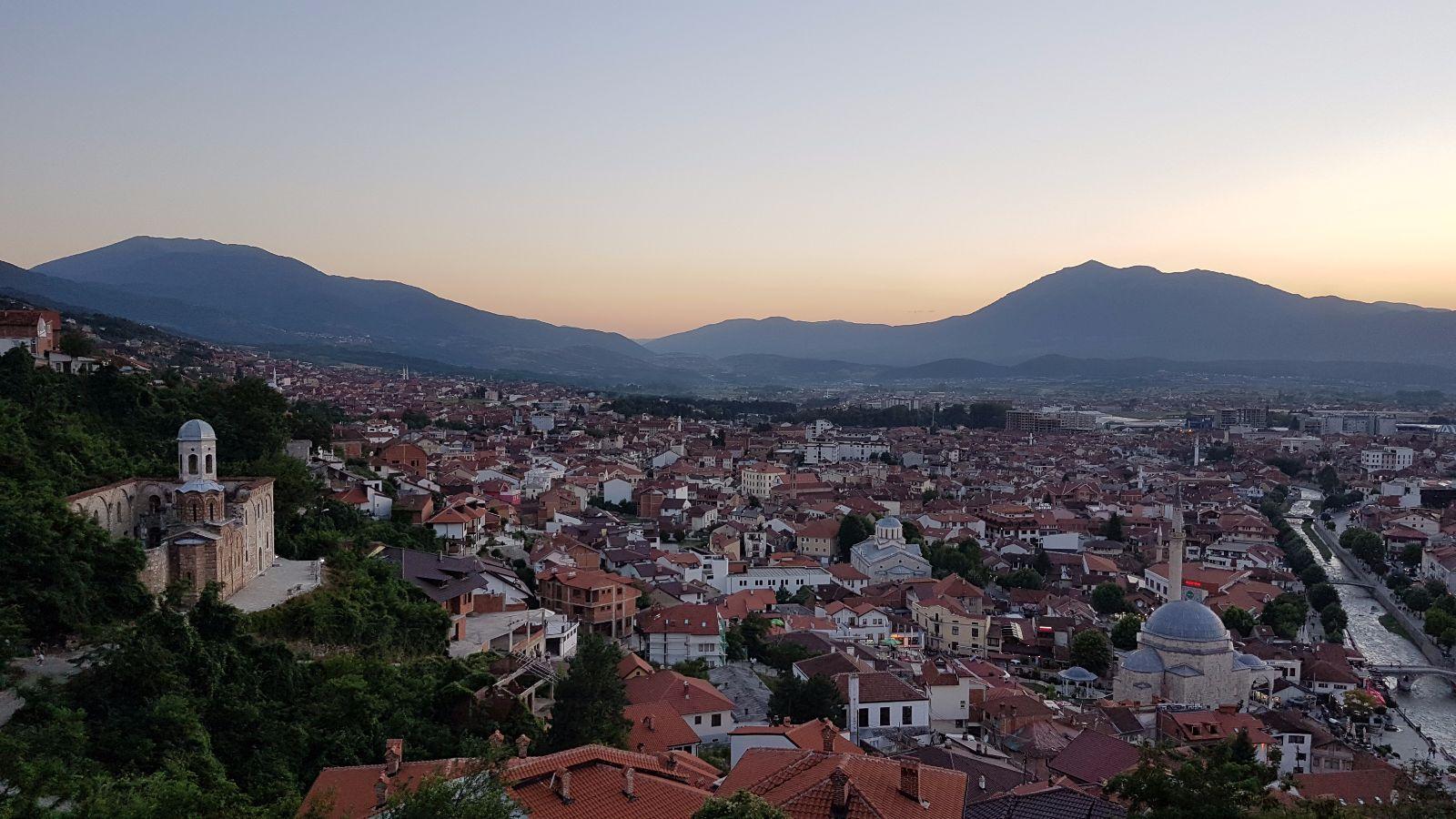 Blick über Prizren von der Festung aus